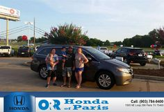 https://flic.kr/p/w9UPQ5 | Congratulations to Hayle Hudson on your #Honda #Odyssey from Tyler  Bush at Orr Honda of Paris! #NewCar | www.hondaofparis.com/?utm_source=Flickr&utm_medium=DM...