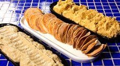 BABAGANUSH (pasta de berinjelas e tahine)  HOMUS  (pasta árabe de grão de bico e tahine)