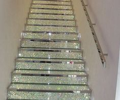 sparkle stairs cuz glitter makes everything better!!!!