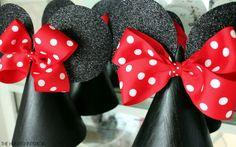 gold polka dot template | hunted interior: Minnie Mouse Birthday Party