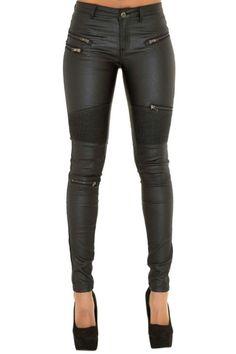 Black Leather Pants, Leather Trousers, Black Trousers, Denim Pants, Leather Jackets, Pu Leather, Jeans Slim, Jeans Skinny, Super Moda