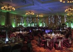 clav rooms decor - green tab warmers, break up gobos on the floor and brown cloth on chairs Sweet 16 Party Themes, Sweet 16 Parties, Prom Decor, Wedding Decorations, Enchanted Forest Theme Party, Led Centerpieces, Beautiful Lyrics, Midnight Garden, Enchanted Evening