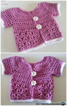 Crochet Stylo Jacket FreePattern- Crochet Kid's Sweater Coat Free Patterns