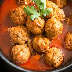 This is my Mom's Meatball Curry recipe from one of her many many recipe books.