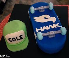 Birthday Cake Photos - *  tony hawk skateboard cake and cap