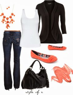 Casual Outfits | Pop of Coral  Click the website to see how I lost 19 pounds in one month with free trials
