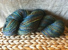 BLF Silk Blend 975/25) purchased at stitches west, Fractal spun 2 ply.