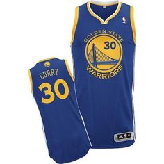 reputable site 5f45f 5e03a Youth Stephen Curry Authentic In Royal Blue Adidas NBA Golden State  Warriors  30 Road Jersey