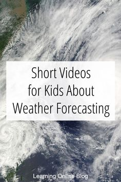 Your kids can learn about weather forecasting and meteorology from these videos. #homeschool #weather