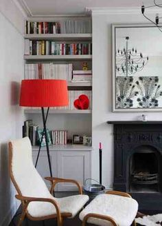 47 Ideas For Living Room Red Decor Shelves Victorian Living Room, Living Room Red, Living Room Paint, Home And Living, Living Room Decor, Victorian House, Red Home Decor, Living Room Flooring, Home And Deco