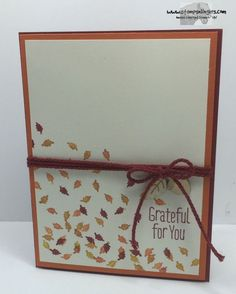 Stampin' Up! A Little Something and Into the Woods Elements. http://stampsnlingers.com/2015/09/19/stampin-up-a-little-something-simple-for-saturday/