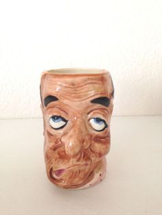 Vintage-Character-Toby-Tall-Ceramic-Weird-Face-Coffee-Cup-Mule-Handle