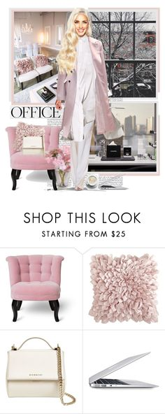 """A day at the Office ● New York"" by annynavarro ❤ liked on Polyvore featuring Pier 1 Imports, Givenchy and Apple"