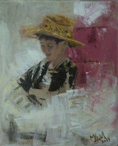 "Saatchi Art Artist Mei Yee Lam; Painting, ""My father's hat"" #art"