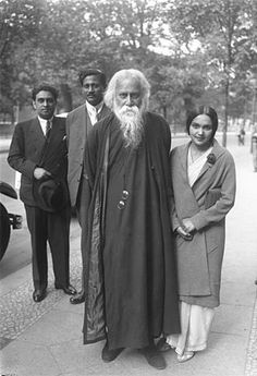 Rabindranath Tagore, Nobel Prize recipient 1913, on his 70th birthday. Photo taken in May 1931.