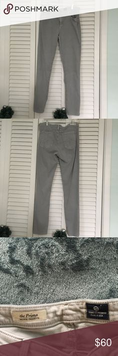Adriano Goldschmied AG Jeans . Silver/ Size 31 R. Adriano Goldschmied AG Jeans .the Prima mid-rise cigarette . Color Silver grey. Size 31 R. New without tags/ Excellent condition. Made in USA . Ag Adriano Goldschmied Jeans