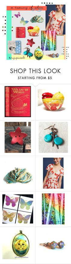 """""""A treasury of colour #etsyspecialt"""" by seasidecollectibles ❤ liked on Polyvore featuring Maeve and EtsySpecialT"""