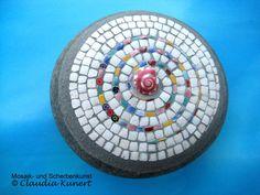 Mosaic Stones, Mosaic Rocks, Bowling Ball Art, Rock Design, Painted Stones, Byzantine, Stone Painting, Rock Art, Sugar Skull