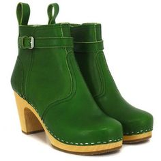 these green boots are amazing!!! swedish hasbeens