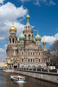 The Church of Our Savior on the Spilled Blood, St. Petersburg, Russia.