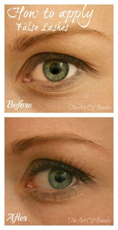 How to apply false eyelashes! Great tutorial!