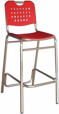 Palm Beach Collection Red Outdoor Barstool, BAL-03-RED | RestaurantFurniture4Less.com