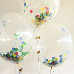 meri meri transparante ballonnen met confetti (8st)   ilovespeelgoed.nl