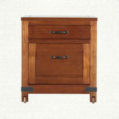View the Bentley Brown 2 Drawer File On Castors from Arhaus. The Bentley Collection is inspired by the campaign style of the 18th and 19th centuries