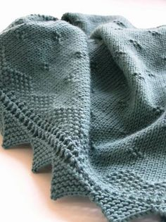Debbie Bliss Baby Shawl/Blanket by ameliajjones, via Flickr