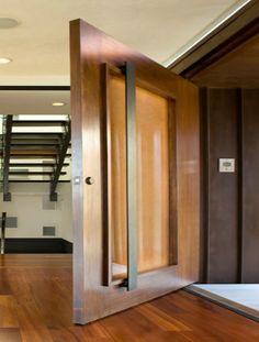 Pivot Doors - NOW that's a handle!!! #doors #doorhandle