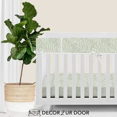 Desert nursery vibes. We love this modern, gender-neutral desert themed nursery bedding. This agave print is simple and sophisticated. Decorate the room with wood accents, macrame and texture for the boho nursery of your dreams. Modern Baby Bedding, Woodland Baby Bedding, Custom Baby Bedding, Baby Crib Bedding Sets, Nursery Bedding, Baby Cribs, Boho Nursery, Designer Baby Blankets, Crib Rail Cover