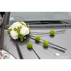 Not sure what's going on, but I love the colors Deco Floral, Arte Floral, Floral Design, Wedding Car Decorations, Grave Decorations, Green Wedding, Floral Wedding, Wedding Flowers, Wedding Arrangements