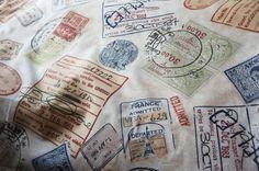 Home decor fabric, Passport stamps and Passport on Pinterest