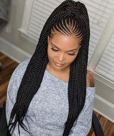 Box Braids Hairstyles, African Braids Hairstyles Pictures, Braided Ponytail Hairstyles, Amazing Hairstyles, Short Hairstyles, Roll Hairstyle, Evening Hairstyles, Everyday Hairstyles, Protective Hairstyles