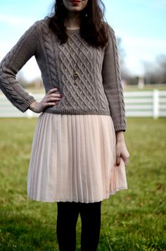 Knit + tulle