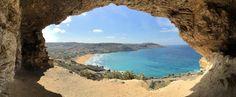 The Cave with view on Ramla Bay, Gozo, Malta