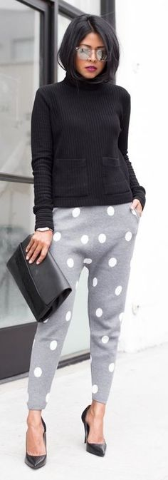 #spring #style | Polka Dot Joggers | Walk In  Wonderland