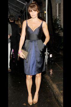 Vestido Ladylike azul noche y negro