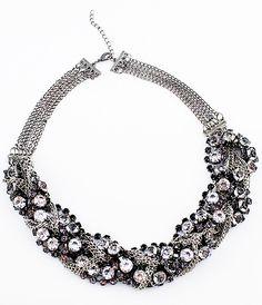 Fashionable Mix Style Crystal Full Rhinestone Chain Necklace