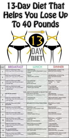 13-Day Diet That Helps You Lose Up To 40 Pounds –