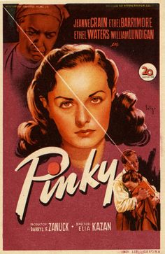 Pinky poster, t-shirt, mouse pad Martin Scorsese, Stanley Kubrick, Alfred Hitchcock, Ethel Waters, Elia Kazan, Jeanne Crain, Fritz Lang, Film Posters, Actresses