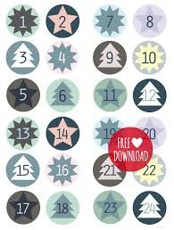 DIY - Blue labels for the advent calendar Christmas Calendar, Christmas Countdown, Winter Christmas, Christmas Holidays, Christmas Crafts, Advent Calenders, Diy Advent Calendar, Diy Calendario, Calendar Numbers