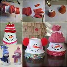 Creative Ideas - DIY Adorable Terracotta Pot Snowman | iCreativeIdeas.com Follow Us on Facebook --> https://www.facebook.com/iCreativeIdeas