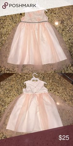 24 months pale pink dress 24 months-   Pale pink with silver sequins on top.  Worn once for Easter. Pristine condition.  Pet free/smoke free home. Make me an offer !!😊 special occations  Dresses