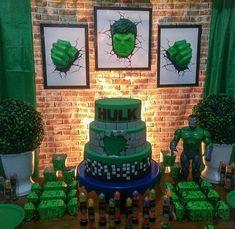 Hulk Birthday Cakes, Hulk Birthday Parties, 2 Birthday, Superhero Birthday Cake, Avengers Birthday, Superhero Party, Birthday Party Decorations, Hulk Cakes, Hulk Party