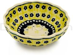 Polish Pottery Stoneware BOWL @Design Unlimited R i've never seen black and gold polish pottery! :)