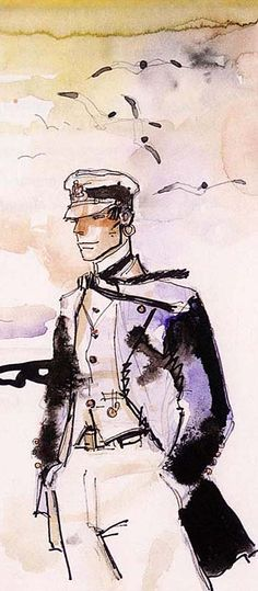 """Hugo Pratt - Corto Maltese: Je l'ai découvert dans le """"pif gadget"""" de mon petit frère!"""