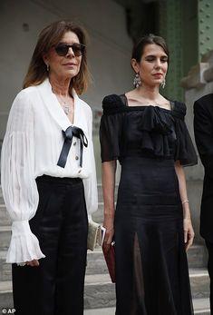 Andrea Casiraghi, Charlotte Casiraghi, Royal Fashion, White Fashion, Spring Fashion, Fashion Show, Claudia Schiffer, Karl Lagerfeld, Carla Bruni