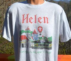 vintage 90s tee shirt HELEN georgia alpine village by skippyhaha
