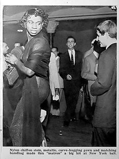 """1952: The """"Fun-Maker's Ball"""" proves that drag balls continued to flourish in the…"""